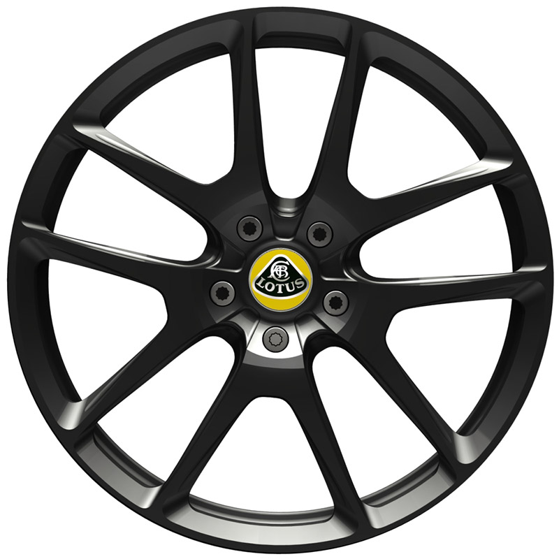 Evora 400 forged wheel in black