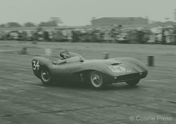 Colin Chapman in the Mk9 - Snetterton - 1955