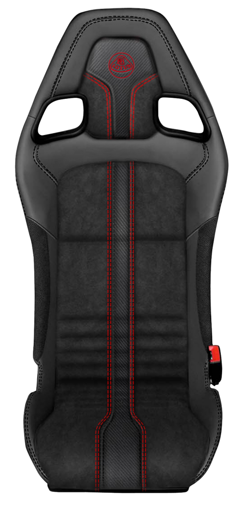 Exige Coupe Premium Sport Suedetex Red stitch seat